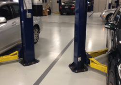 Automotive industrial floor coatings