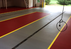 Fire Department Floor Coatings Broadcast Systems