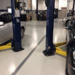 Automotive repair facility floor coatings