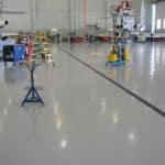 Airplane hangar floor coatings systems
